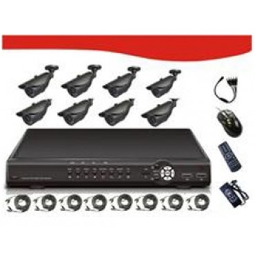 "SIGNAGEiT 8CH Combo Kits, Includes 8*1/ 4""SHARP 3.6mm RJ2421FA CCD 420TV Line, PAL:500(H)X582(V)"