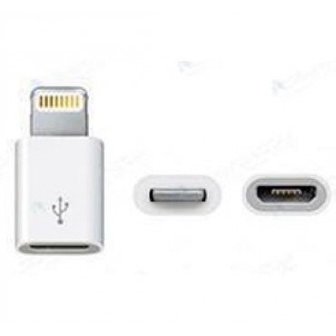 Amaze Apple 8 Pin Lightning to Micro USB Adapter (iPhone 5/ iTouch 5/ iPod Nano 7/ iPad mini/ iPad), White Colour