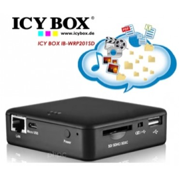 ICY BOX IB-WRP201SD WiFi-Station for SD cards, Access Point and Power Bank NETICY201WRPSD