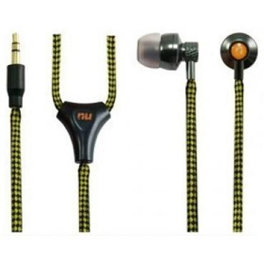 NU Metal Waterproof (IPX7) All-Weather Earphone kit Yellow/ Black Line