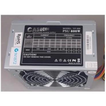 Casecom Power Supply 600W PSU 3*IDE+20-4PIN+3*S, 2YR WARRANTY ATX600W
