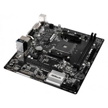 ASROCK AB350M-HDV AM4 MATX MB 4X DDR4-2133 2X M.2 SATA3 HDMI/DVI/D-SUB USB3.0 AB350M-HDV