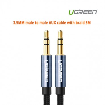 Ugreen 3.5MM male to male AUX cable with braid 5M 10689 ACBUGN10689