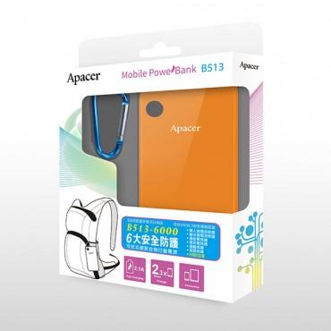 APACER Mobile Power Bank B513 6000mAh Orange MOBAPAPBANKB513OR