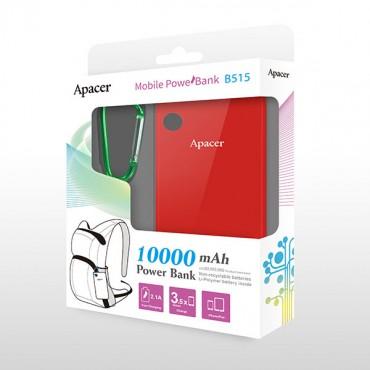 APACER Mobile Power Bank B515 10000mAh Red RP Apacer B515R-1
