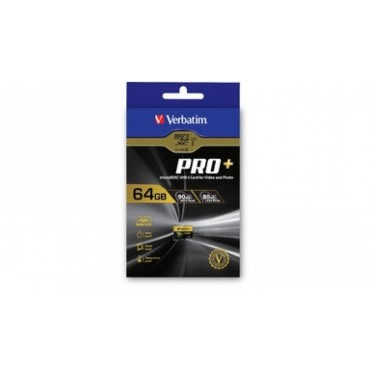 Verbatim Pro+ 4k Micro SDHC 64GB (Class 10 UHS-I) with Adaptor 44034