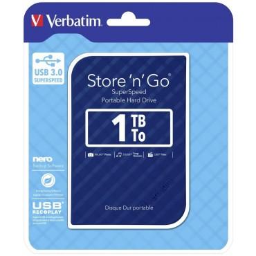 Verbatim 2.5' USB 3.0 Store'n'Go HDD Grid Design 1TB - Blue 53200