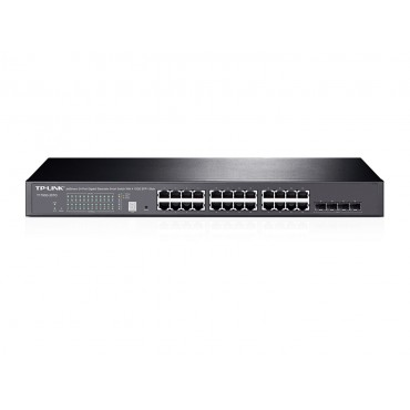 TP-Link T1700G-28TQ JetStream 24-Port Gigabit Stackable Smart Switch with 4x10GE SFP+ Slots L2+