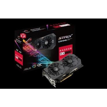 Asus AMD Radeon ROG Strix RX570-O4G DDR5 PCIe Video Card 5120x2880 2xDVI 1xHDMI 1xDP 1310/ 1300MHz