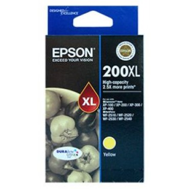 Epson 200XL HighCap Yellow DURABrite Ultra, XP200, XP400, C13T201492