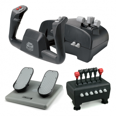 CH Captain's Pack Includes Flight Sim Yoke (USB), Pro Pedals (USB) & Quadrant Throttle
