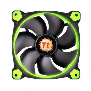 Thermaltake 140mm Case Fan: Riing 14 Green LED 1400RPM Fan CL-F039-PL14GR-A