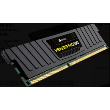 Corsair DUAL CHANNEL: 8GB (2x4GB) DDR3-1600 CL9 Low Profile Vengeance module for AMD, Intel Dual