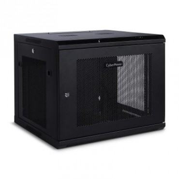 "CyberPower CR9U61001 19"" 9U 600mm Deep Wall mount Enclosure, Hex Perfoated Metal Door, 60KG"