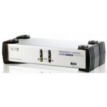 Aten (CS1742C-AT) 2 PORT DUAL-VIEW KVM SWITCH. Support Dual View Audio CS1742C-AT