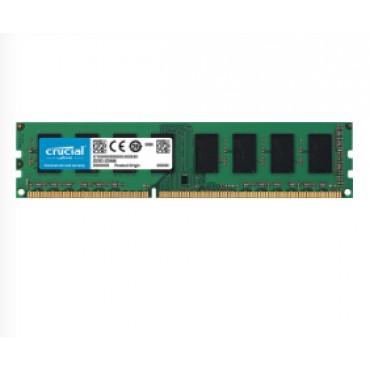 Crucial DDR3 PC12800-2GB 1600Mhz 256x8 CL11 Dual Rank Desktop Memory Single Ranked CT25664BD160BJ