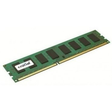 Crucial SINGLE CHANNEL: 4GB DDR3L PC12800 1600Mhz CL11 Dual Voltage 1.35/ 1.5V Single Ranked CT51264BD160BJ