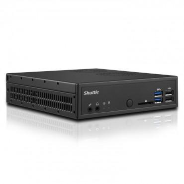"Shuttle DH110SE XPC Slim 1.3L Barebone PC - H110 LGA1151 2x DDR4 SODIMM 1x 2.5"" Bay M.2 2260 1x GbE"