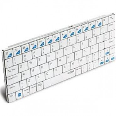 Rapoo Keyboard: Bluetooth Ultra-slim for iPad (Blade Series) White E6300-White