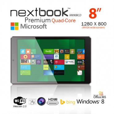 Nextbook 8 Inch 16G/ Windows 8.1 with Bing/ Quad Core with HDMI Output Tablet PC (M890BCD) (Keyboard Not Included) (refurbished) oem package ELENEXM890BCP16RF