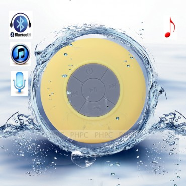 Mini Waterproof Wireless Bluetooth Speaker (Yellow) ELEVMXWATERPFYW