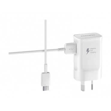 SAMSUNG FAST CHARGE AC CHARGER WITH USB TYPE- C CABLE EP-TA20HWECGAU