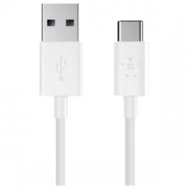 BELKIN MIXIT 2.0 USB-A TO USB-C CHARGE CABLE 6in - WHITE F2CU032BT06-WHT