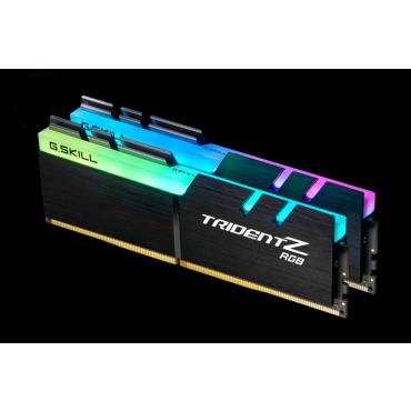 G.skill 16GB (8GBx2) DDR4-3200 (PC4-25600) CL14-14-14-34 1.35 Volt[Trident Z RGB] F4-3200C14D-16GTZR