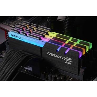 G.skill 32GB(8GBx4) DDR4-3866 (PC4-30900) CL18-19-19-39 1.35 Volt(Trident Z RGB) Intel Z270 platform