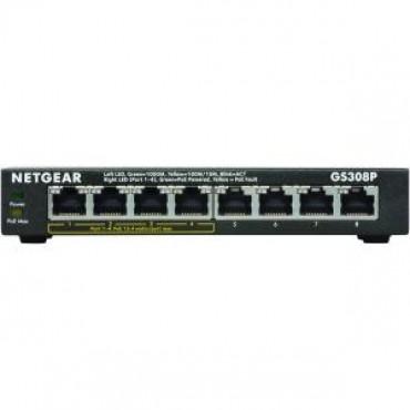 Netgear Switch PoE: 8-Port Gigabit Ethernet Switch with 4-Ports PoE GS308P-100AUS