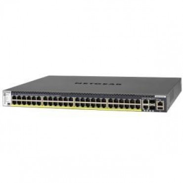 NETGEAR M4300-52G-PoE+ 48-Port Fully Managed Stackable Layer 3 PoE+ Switch (48 x 1G ports with