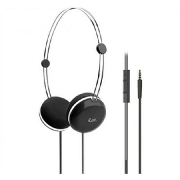 iLuv Sweet Cotton High-Fidelity Stereo Headphones with SpeakEZ Remote for iPad / iPhone / iPod Black iHP613