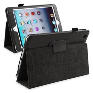 iPad Mini Folding Protective PU Leather Case Black