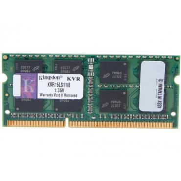 Kingston SINGLE CHANNEL SO-Dimm: 8GB DDR3L 1600MHz Non-ECC CL11 1.35V KVR16LS11/8