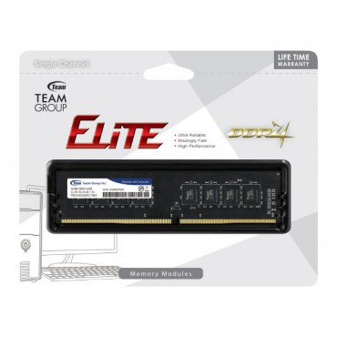 Team Group DDR4 2400MHz PC4-19200 16GB (16GBx1) DIMM 16-16-16-39 1.2V Elite TED416G2400C1601