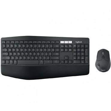 Logitech Wireless Keyboard & Mouse Combo, MK850 Desktop, Black, USB Receiver (Powered by 2+1 xAAA)