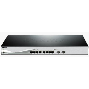D-LINK DXS-1210-10TS 10-Port 10 Gigabit WebSmart Switch with 8 10GBase-T Ports and 2 SFP+