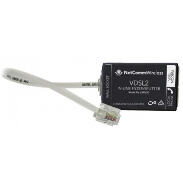 NetComm EM1690B xDSL In-Line Splitter/Filter Australian Certified used by NBN EM1690B