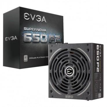 EVGA PSU (Full-Modular), 650W, 80+ Platinum 94%, SuperNOVA P2, 140mm Fan, 4xPCIE, Single