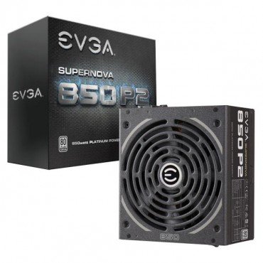 EVGA PSU (Full-Modular), 850W, 80+ Platinum 94%, SuperNOVA P2, 140mm Fan, 6xPCIE, Single