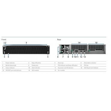 "Synology Expansion Unit RX2417sas 24-Bay 2.5"" Diskless NAS (2U Rack) (SMB/ENT) for Scalable NAS"