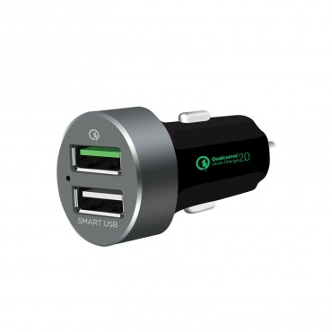 mbeat QuickBoost S Dual Port Smart USB Car Charger MB-CHGR-QBS