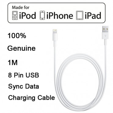 Apple Original Lightning Cable 1m for iPhone 5,5S,iPhone 6/ 6s,iPhone 6/ 6s Plus  MOBACC3364APUSB