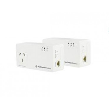 Netcomm Twinpack AC Powerline AC Pass Through Compact Housin NHNC-NP511
