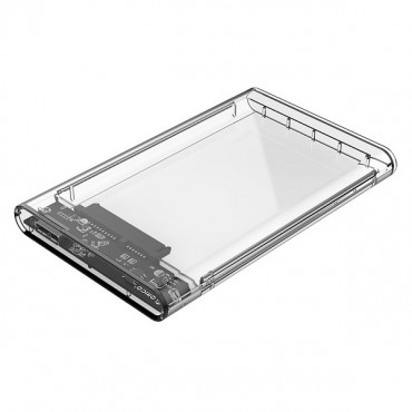 "Orico Transparent 2.5"" USB 3.0 External SATA Hard Drive Enclosure White Clear ORC-2139U3-PRO-CR"