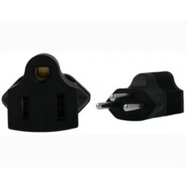 US 3 Pin to Swiss 3 Pin Plug Adapter