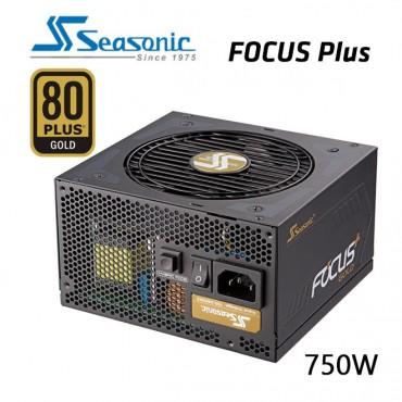 SEASONIC SSR-750FX FOCUS PLUS 750W 80 + GOLD Power Supply PSUSEAFOCUS750FX