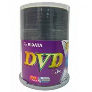 Ritek 16x DVD-R: 4.7GB Spindle 100pc Printable R16xDVD-R-100