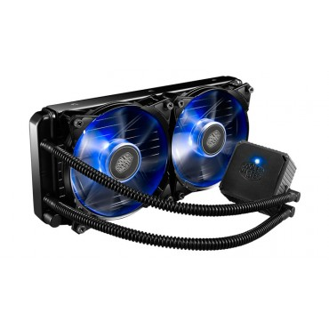 Cooler Master - Seidon 240P Liquid CPU Cooler, 2x Blue Jetflo LED Fan, 240mm Radiator RL-S24V-20PB-R2