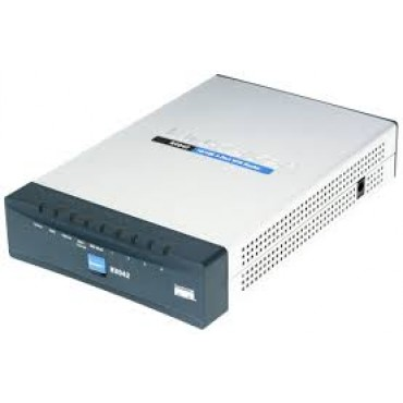 CISCO (RV042-AU) Dual WAN VPN Router - 2 X 10/ 100 Mbps FE WAN PORT 4 X 10/ 100 LAN PORTS RV042-AU